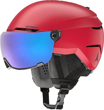 Atomic Savor Visor Stereo Red Laskettelukypärä