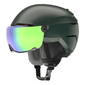 Atomic Savor Visor Stereo Vihreä Laskettelukypärä